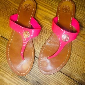 Coral Pink Tory Burch Sandals 7.5